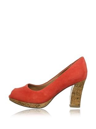 Clarks Peep Toe Adina Kendra (Rojo)
