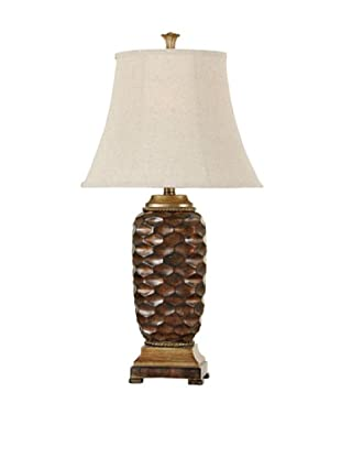 StyleCraft Poly Table Lamp, Winthrop Gold