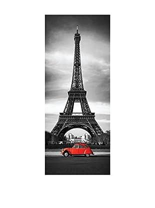 Ambiance Live Vinilo Decorativo Door 204x83 cm - Eiffel Tower Multicolor