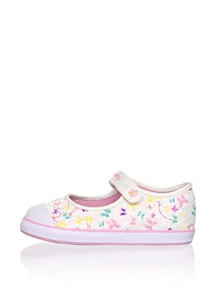 Pablosky Kid's Butterfly Mary Jane (White/Multi)
