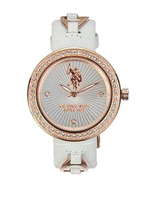 U.S. POLO ASSN. Uhr mit japanischem Quarzuhrwerk Eloise weiß 37 mm