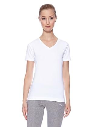 PUMA T-Shirt Essential V (Weiß)