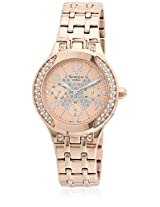 She-3803Pg-9Audr-Sx107 Golden/Rose Gold Analog Watch