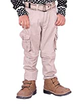 OKS Junior Beige Cotton Printed Pant For Boys | OKJ1177STN