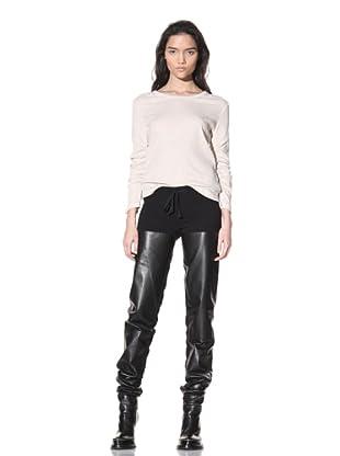 Ann Demeulemeester Women's Slim Leg Panel Trousers (Black)