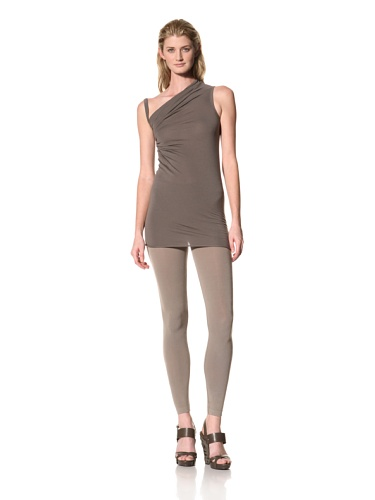RICK OWENS Women's Light Jersey Asymmetrical Tank (Darkdust)