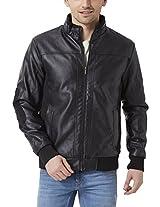 Peter England Men's Regular Fit Outerwear_ EOW51500002_L_ Black