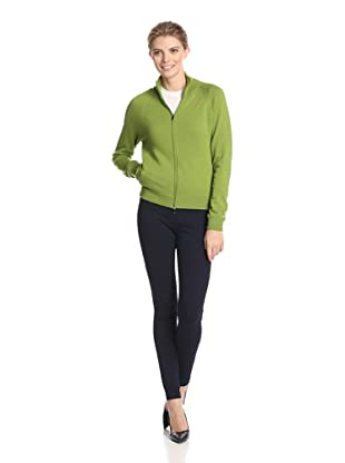 Malo Women's Zip-Up Sweater (Green)