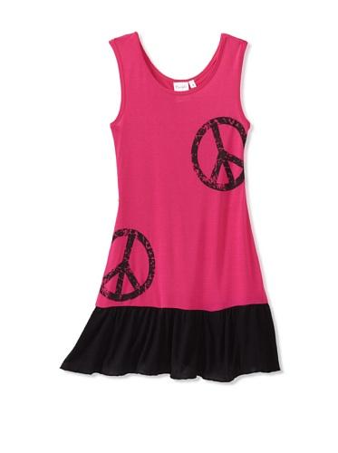Purple Orchid Girl's Peace Dress (Pink/Black)