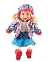 Tickles Blue Gorgeous Musical Doll Stuffed Soft Plush Toy Love Girl 43 cm