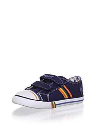Pablosky Kid's Striped Sneaker (Navy)