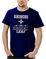 Socratees Men's Shinobi of The Leaf T-Shirt- Navy Blue
