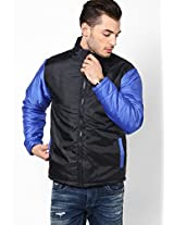 Black Bomber Jacket With Contrast Sleeves