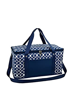 Picnic at Ascot Folding 72-Can Cooler, Trellis Blue