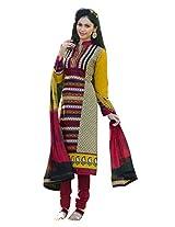 RGN Retails womens cotton unstitched dress material for salwar suit kameez RGN-1309