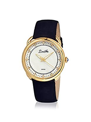 Bertha Women's Beverly Black/White Leather Watch