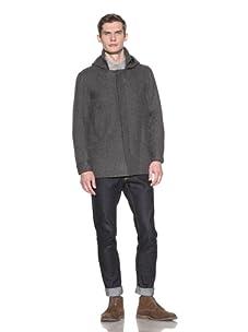 Baron Wells Men's Wool Parka (Charcoal)