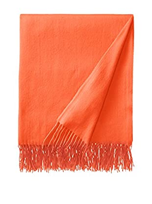 Sofia Cashmere Trentino Throw, Bright Orange