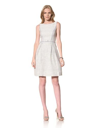Theia Womens Party Dress with Skinny Belt (Sky Blue)