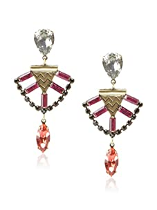 Lionette Designs by Noa Sade Red and Black Mercer Tribal Earrings