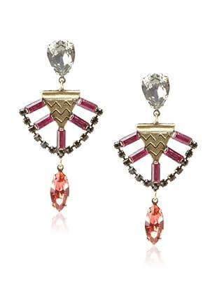 Lionette Designs by Noa Sade Red & Black Mercer Tribal Earrings