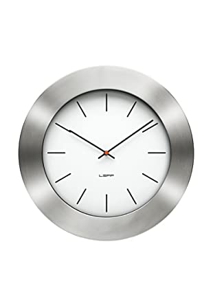Leff Amsterdam Stainless Steel Bold Index Clock, White