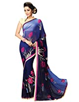 Vibes Women's Weightless Saree (S27-4798_Multi Coloured)