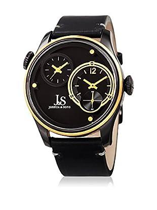 Joshua & Sons Reloj con movimiento cuarzo japonés Man JX118BKYG 46 mm