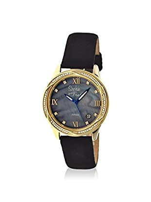 Sophie and Freda Women's SAFSF2004 Los Angeles Black Leather Watch