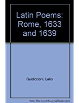Latin Poems: Rome, 1633 and 1639