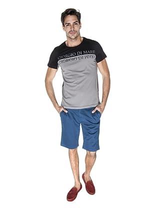 Giorgio Di Mare Camiseta Amirov (Negro / Gris)