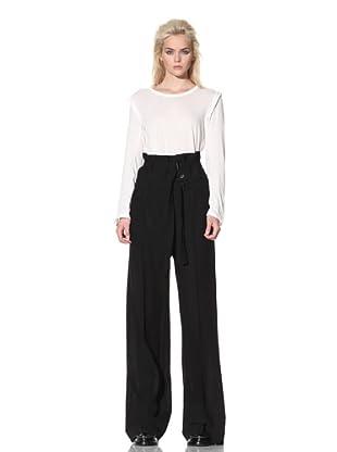 Ann Demeulemeester Women's Double-Belted Trousers (Black)