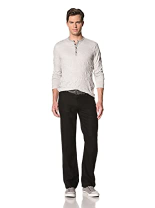 John Varvatos Star USA Men's Linen Authentic Pants (Black)