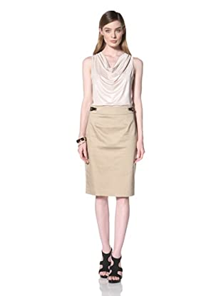Calvin Klein  Women's Pencil Skirt (Dark Khaki)