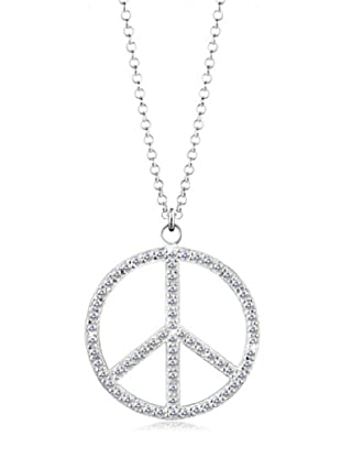 Elli Kette Peace weiß