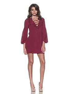 Vix Swimwear Women's Solid Margot Dress (Magenta)