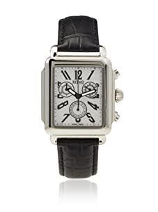 Ritmo Mundo Men's Athena Rectangular Black/White Stainless Steel Watch