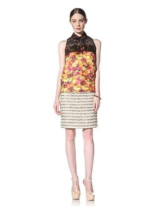 Peter Som Women's Rose Print Sleeveless Blouse