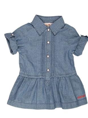 Naf Naf Chevignon Vestido Jaretas (Azul)