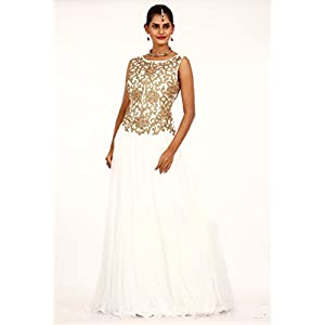 Bawree Evening Gown White Net 31251