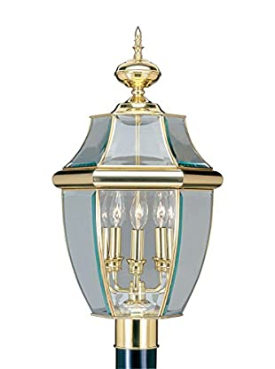 Crestwood Mabel 3-Light Post Top, Polished Brass