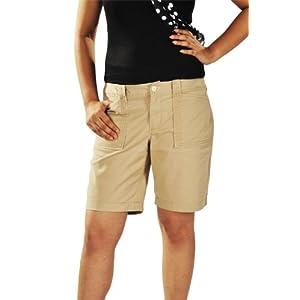 Khaki Knee Length Shorts