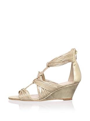 Loeffler Randall Women's Anja Wedge Sandal (pale gold)