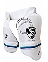 SG Ultimate Right Hand Thigh Guard, Men's (White/Blue)