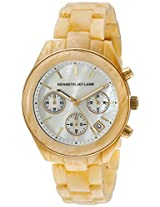 Kenneth Jay Lane Womens KJLANE-4004 4000 Series Analog Display Japanese Quartz Beige Watch