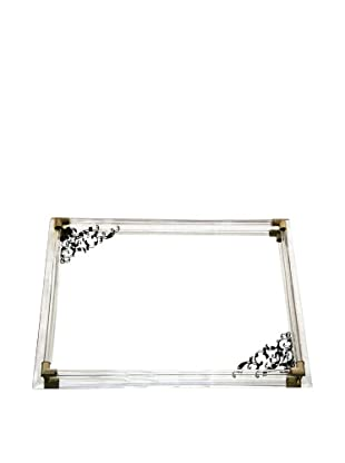 Allure Mirror Vanity Tray with Gold Accents