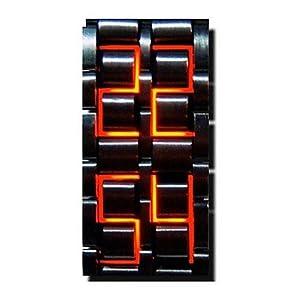 Royal Black Stainless Steel LED Men Watch 9151