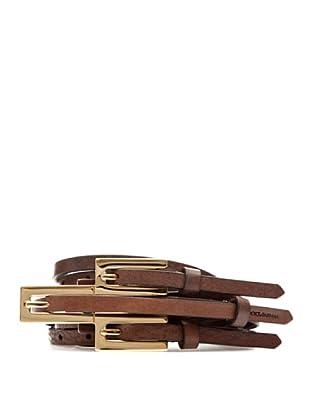 Dolce & Gabbana Cinturón Piel (Marrón)