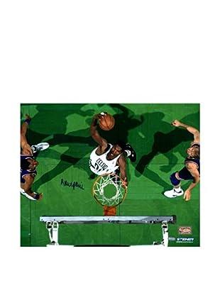 Steiner Sports Memorabilia Robert Parish Celtics White Jersey Over Head Dunk Photo