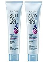 2 Avon SKIN SO SOFT Fresh & Smooth Sensitive Skin Bikini Line Hair Removal Cream